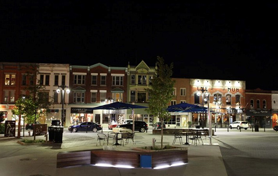Downtown Stratford by Night